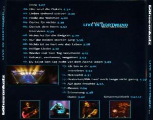 Böhse Onkelz - Live in Dortmund 23.11.1996 - Back (1)