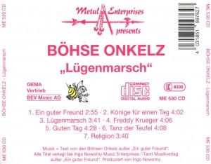 Böhse Onkelz - Lügenmarsch - Back