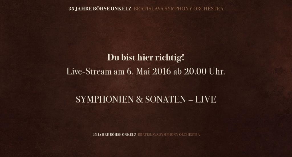 35 Jahre Bohse Onkelz Symphonien Sonaten Der Live Stream